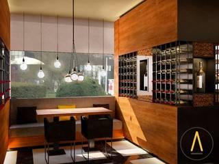 Restaurante Bruselas Gastronomía de estilo moderno de Acontraluz Studio Moderno