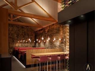 Restaurante en Paris Gastronomía de estilo rústico de Acontraluz Studio Rústico