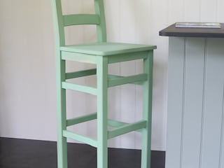 Hand Painted Bar Chair:   by Rectory Blue