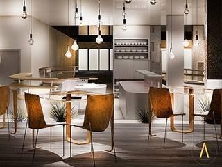 Restaurante Estrella Michelin Gastronomía de estilo moderno de Acontraluz Studio Moderno