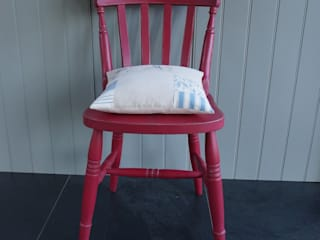 Hand painted Farmhouse Chair:   by Rectory Blue