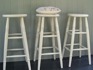 Hand Painted High Stool:   by Rectory Blue