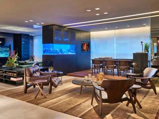 Livings de estilo  por Gislene Lopes Arquitetura e Design de Interiores