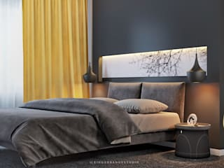 Дизайн спальной комнаты в Баку Спальня в стиле модерн от ILKIN GURBANOV Studio Модерн