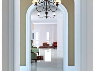"""Квартира в Баку """"Roseville"""" Коридор, прихожая и лестница в классическом стиле от ILKIN GURBANOV Studio Классический"""