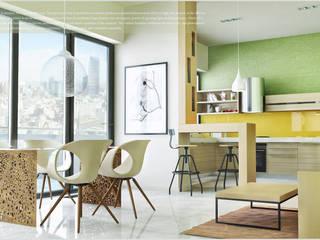 """Квартира в Баку """"Yeni Hayat"""" Столовая комната в стиле минимализм от ILKIN GURBANOV Studio Минимализм"""