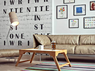 Квартира в Баку в скандинавском стиле Гостиная в скандинавском стиле от ILKIN GURBANOV Studio Скандинавский