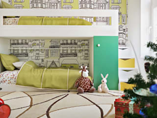 Фрагменты детских комнат в Баку Детская комната в стиле модерн от ILKIN GURBANOV Studio Модерн