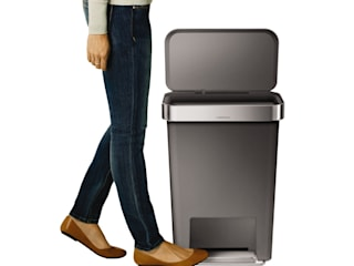 55 litre rectangular pedal bin with liner pocket de simplehuman Moderno