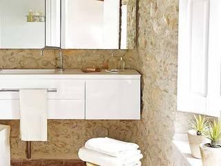 Cases Singular de l'Empordà - Albons Oli 22 Tono Bagno Baños de estilo rústico