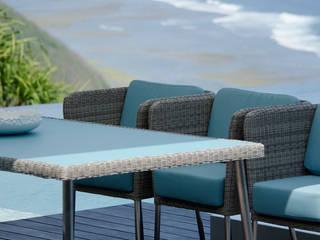 Fiji Dining Gartenstuhl mit Armlehne + Tisch:  Garten von KwiK Designmöbel GmbH