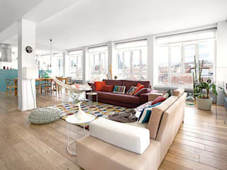 scandinavian Living room by nimú equipo de diseño