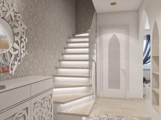 Pasillos y hall de entrada de estilo  por архитектор-дизайнер Алтоцкий Михаил (Altotskiy Mikhail), Asiático