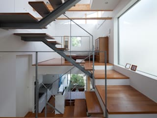 Studio R1 Architects Office Modern corridor, hallway & stairs