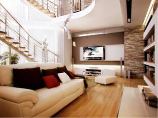 Livings de estilo  por архитектор-дизайнер Алтоцкий Михаил (Altotskiy Mikhail), Ecléctico