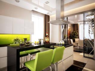 Cocinas de estilo  por архитектор-дизайнер Алтоцкий Михаил (Altotskiy Mikhail), Ecléctico