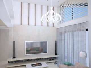 Средиземноморье в г.Анапа Гостиная в средиземноморском стиле от DS Fresco Средиземноморский
