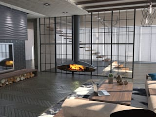 Гостиная Гостиная в стиле лофт от DS Fresco Лофт