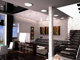 Студия в стиле лофт Гостиная в стиле лофт от DS Fresco Лофт