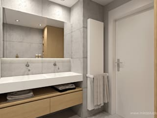 MIRAI STUDIO Minimalist style bathrooms