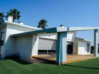 abierto al exterior Jardines de estilo moderno de ZimmeR designer Moderno