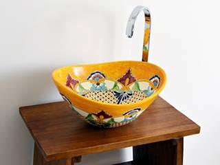 Farbenfrohes Design Waschbecken PUEBLA - MEX 7 oval von Mexambiente e.K. Tropisch