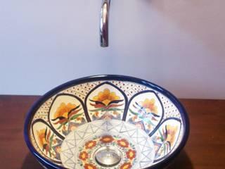 Designer Aufsatzwaschbecken aus Mexiko / rund - MEX 3:  Badezimmer von Mexambiente e.K.