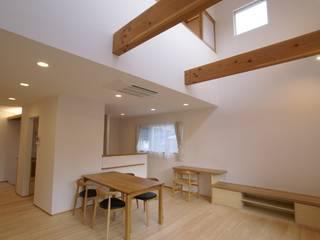 Ⅰ邸 オリジナルデザインの ダイニング の 伊達剛建築設計事務所 オリジナル