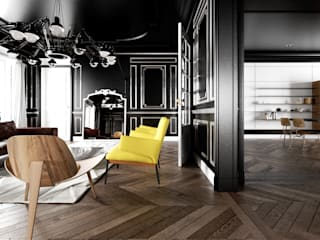 black baron haussmann Salon moderne par New Home Agency Moderne