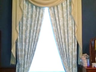 Before and After: Puddled Swags and Tails Curtains Alf Onnie