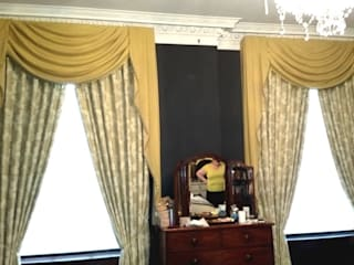 Before and After: Puddled Swags and Tails Curtains โดย Alf Onnie