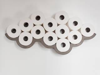 CLOUD / Etagère béton pour papier toilette:  de style  par Bertrand Jayr