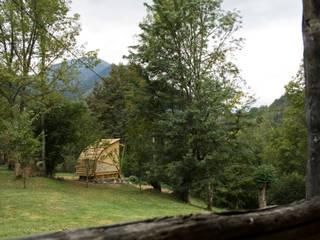 Summerhouse Rustic style garden by Mill & Jones Rustic