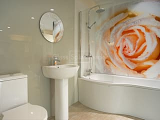 Stunning Photographic Rose Glass Bathroom Splashback Classic style bathroom by DIYSPLASHBACKS Classic