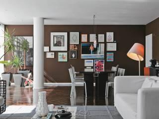 Modern dining room by AMMA PROJETOS Modern