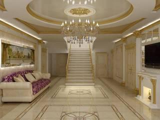 經典風格的走廊,走廊和樓梯 根據 Цунёв_Дизайн. Студия интерьерных решений. 古典風