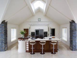 Walnut and Ivory Kitchen Banbridge Modern kitchen by Designer Kitchen by Morgan Modern