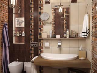 Стандартная ванная в стиле лофт - новостройки Москвы Ванная в стиле лофт от Myroslav Levsky Лофт