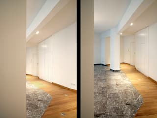 VCC Flat: ristrutturazione di un appartamento a Roma: Sala da pranzo in stile in stile Moderno di Davide Marchetti Architetto