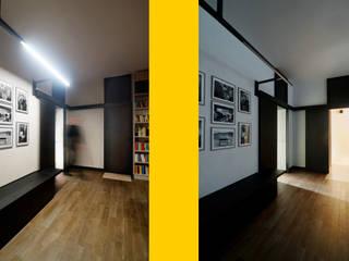 BNC Flat: ristrutturazione di un appartamento a Roma: Soggiorno in stile in stile Moderno di Davide Marchetti Architetto