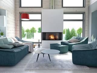 Projekty,  Salon zaprojektowane przez INT2architecture