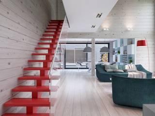 Pasillos y recibidores de estilo  por INT2architecture