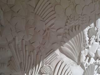 proceso de tallado, empezando a definir texturas:  de estilo  de FUENTEDECOR
