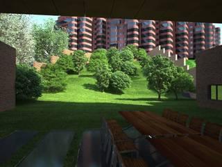 Вилла 2500 м2: Сады в . Автор – KARYADESIGN architecture studio, Минимализм