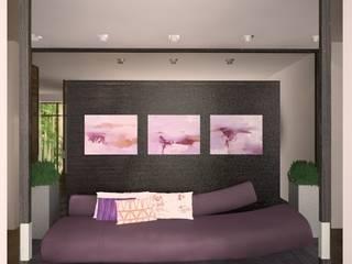 Загородный жилой дом 380 м2: Коридор и прихожая в . Автор – KARYADESIGN architecture studio, Минимализм
