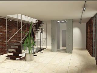 Вилла 2500 м2: Коридор и прихожая в . Автор – KARYADESIGN architecture studio, Минимализм