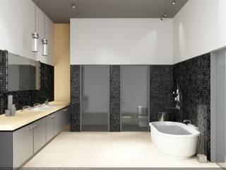 Вилла 2500 м2: Ванные комнаты в . Автор – KARYADESIGN architecture studio, Минимализм