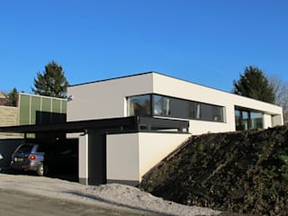 Maison passive contemporaine Maisons minimalistes par dune Architecture sprl Minimaliste