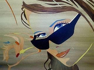 Audrey par ciamarone marqueterie d'art Moderne
