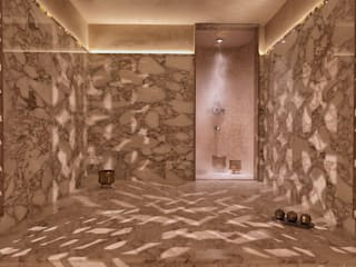 Drummonds Case Study: Urban Retreat Hammam at Harrods Drummonds Bathrooms Centri commerciali in stile mediterraneo